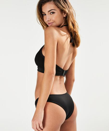 Bikini Croptop met beugel Borneo Mesh, Zwart