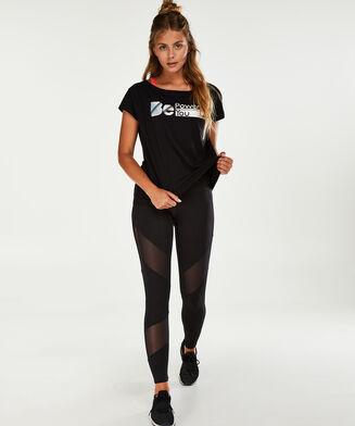 HKMX high waist sport legging, Zwart