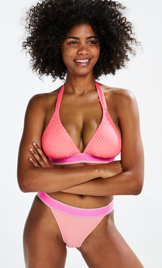 Triangle bikinitop Flash Dance, Roze