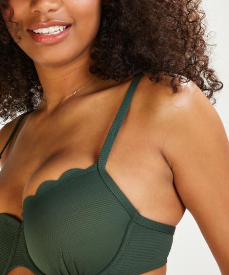Voorgevormde beugel bikinitop Scallop Glam, Groen