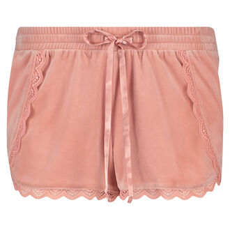 Pyjama short velours, Roze