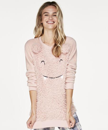 Sweater Fleece Long, Roze