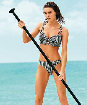 Laag Rio bikinibroekje Shore Game, Zwart