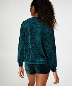 Short velours, Groen