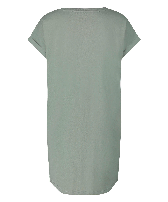 Nachthemd ronde hals, Groen, main