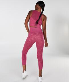HKMX high waist capri sport legging level 3 Leopard, Roze