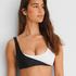 Bikini croptop 2Tone HKM x NA-KD, Wit