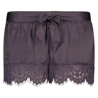 Pyjama short Satin, Grijs