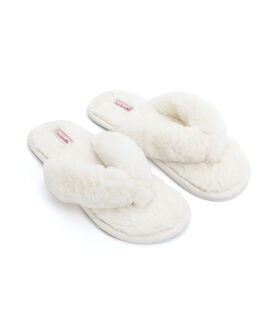 Slippers Fake Fur, Wit