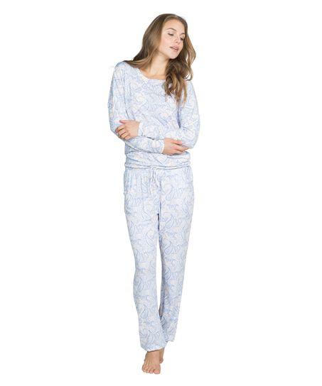 Pyjama pants Prisca, Blauw