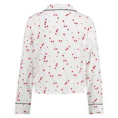 Kort pyjama jasje Woven, Wit