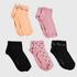 5 paar Sokken Fashion, Zwart