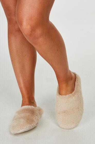 Hunkemöller Huisslippers Fake Fur Wit