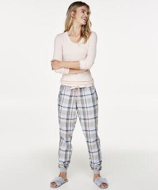 Pyjamabroek Check, Blauw