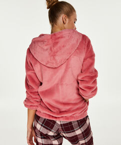 Vest fleece fake fur, Roze