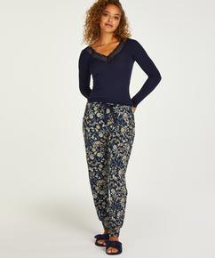 Petite Pyjamabroek Jersey, Blauw