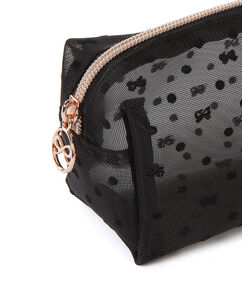 Make-up tas Dot Mesh, Zwart