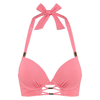 Voorgevormde push-up beugel bikinitop Holiday, Roze