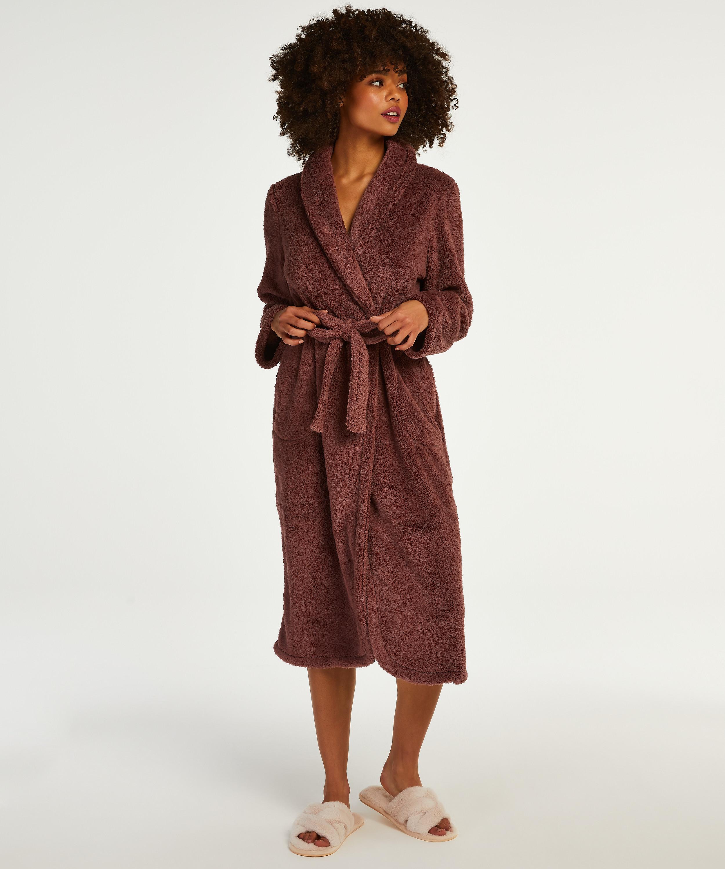 Lange badjas Fleece, Roze, main