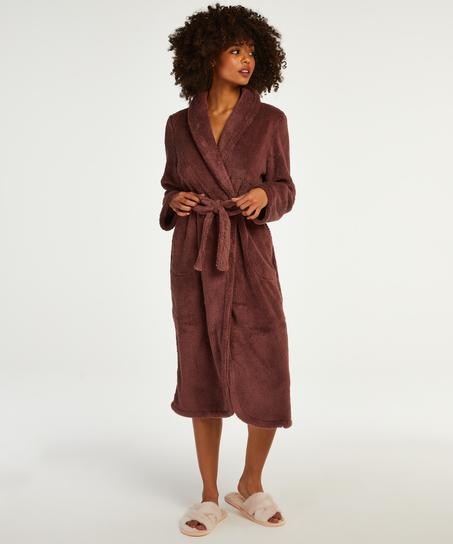 Lange badjas Fleece, Roze