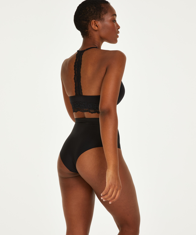Invisible high waist brazilian, Zwart, main