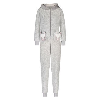 Onesie Fleece Novelty, Grijs