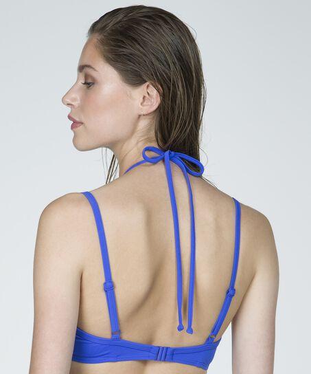 Voorgevormde bikinitop Necklace wave, Blauw