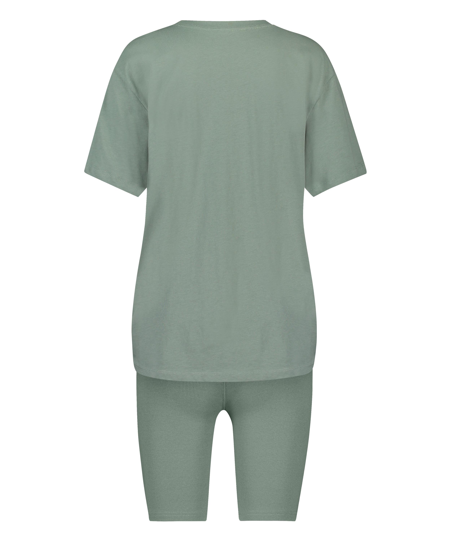Korte pyjama set Biker, Groen, main