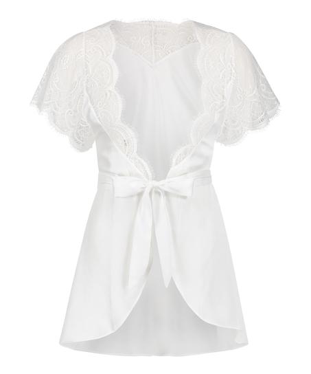 Kimono Cap Sleeve, Wit