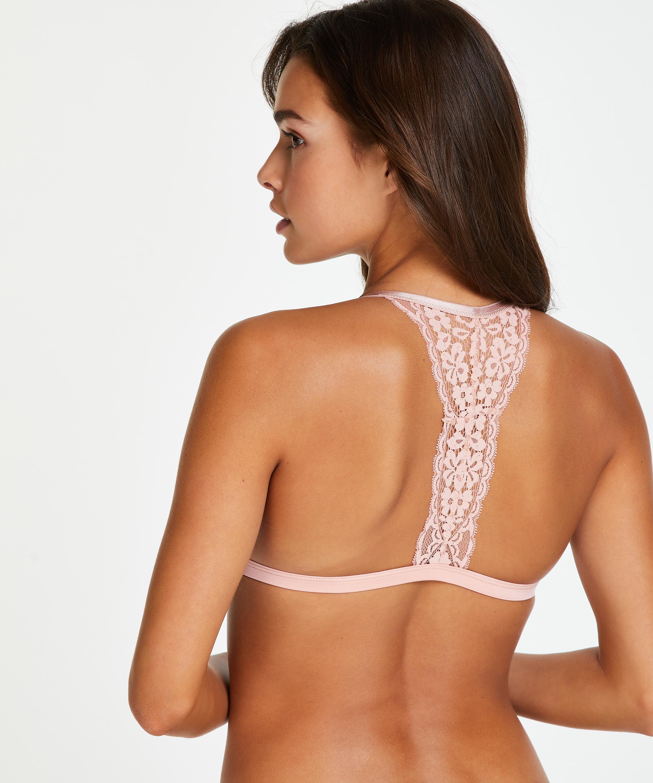Voorgevormde triangle bralette Rose, Roze, main