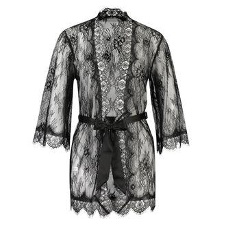 Kimono Allover Lace, Zwart