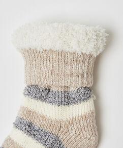 Cosy sokken stripe, Grijs