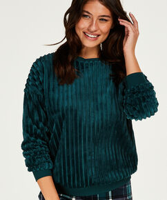 Top lange mouwen fleece, Groen