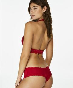 Bralette Halter Lace, Rood