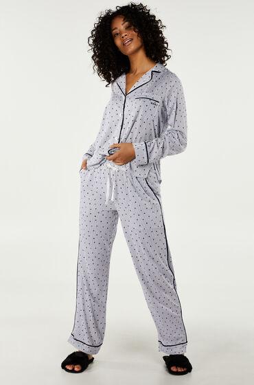 Hunkemöller DKNY lange pyjama set Wit