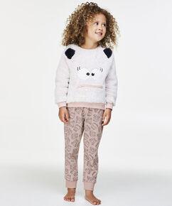 Fleece legging Kids, Roze