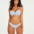 Voorgevormde beugel bikinitop Scallop, Blauw