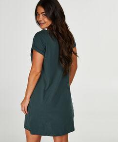 Nachthemd boothals, Groen