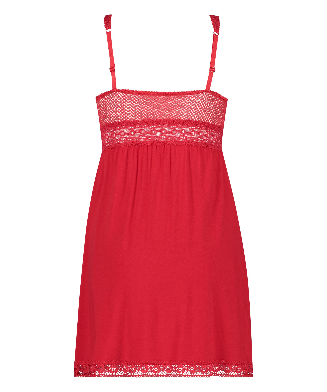 Slipdress Jersey Grafic Lace, Rood, main