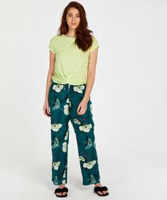 Pyjamatop korte mouwen Rib Knot, Geel