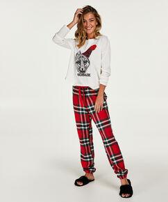 Pyjamaset dames, Rood