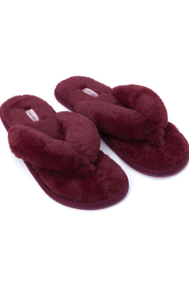 Hunkemöller Slippers Fake Fur Rood