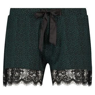 Pyjama short Jersey lace, Groen