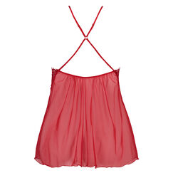 Baby doll Halter lace Chardonnay, Rood