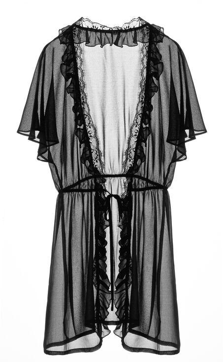 Dressing gown Fantasia, Zwart