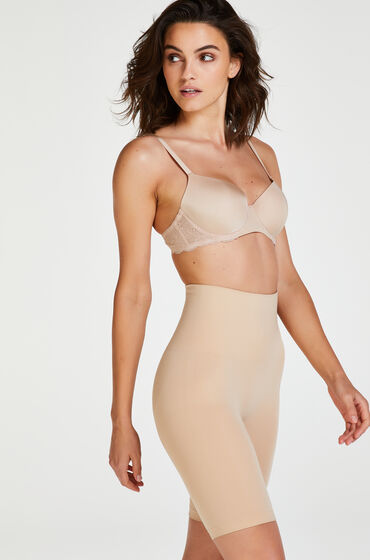 Hunkemoller Verstevigende thigh slimmer - Level 2 Beige