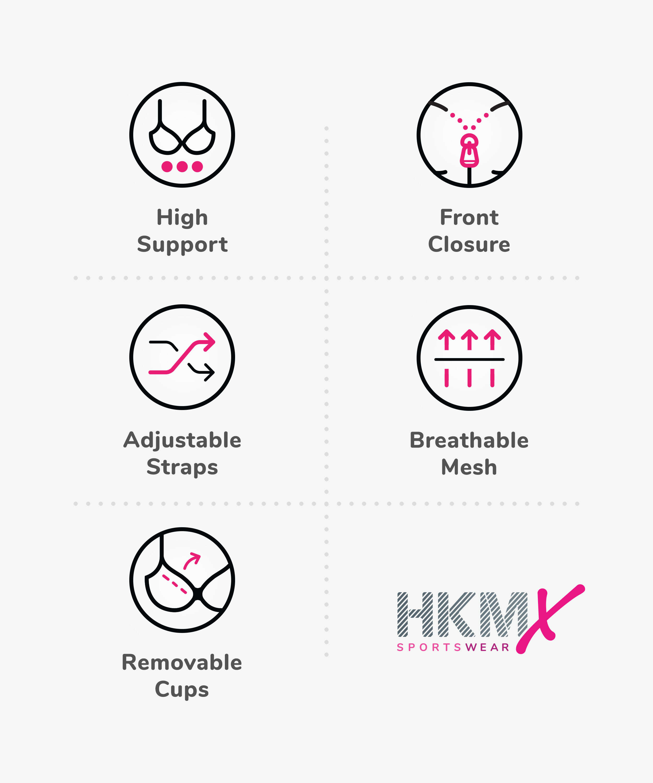 HKMX Sport bh The Pro Level 3, Grijs, main