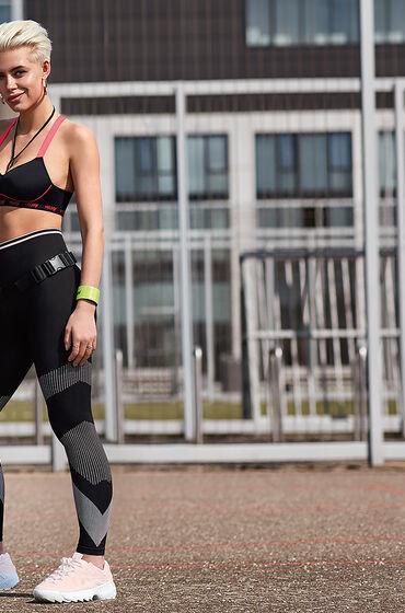 Hunkemöller HKMX hoge sportlegging roundknit Zwart
