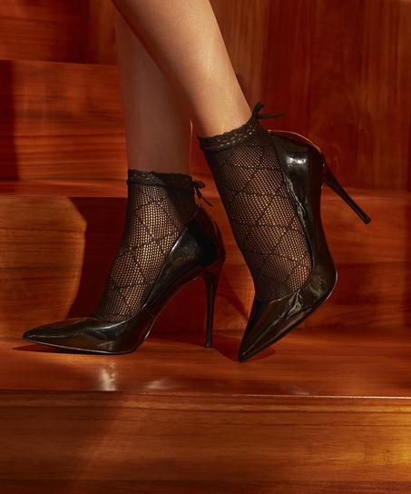 1 paar sokken Mesh Rebecca Mir, Zwart