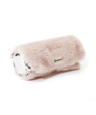 Ronde toilettas Fur, Roze